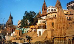 Indien – Varanasi – den heliga staden vid Ganges