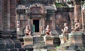 Kambodja: Siem Reap och Angkor: Templet Banteay Srei