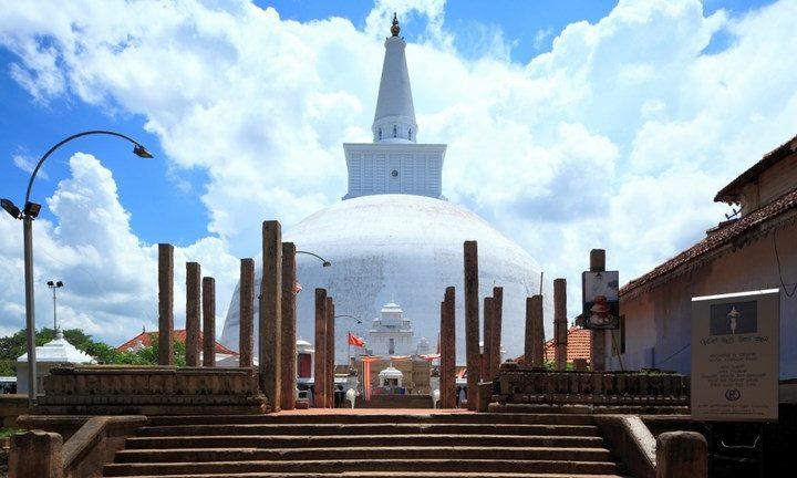 Bild på Lankarama Sthupa i Anuradhapura